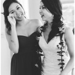 Garty Pavilion Wedding | Bridesmaid with Bride | Kristine Marie Photography