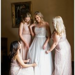 Bride and Bridesmaids Getting Ready Photo | The Prado Wedding Photo | San Diego Balboa Park Wedding Photographer | Kristine Marie Photography
