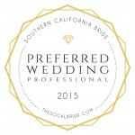 preferred wedding professional socal bride | Kristine Marie Photography