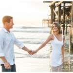 Pacific Beach Engagement Photos | San Diego Engagement Wedding Photographer | © Kristine Marie Photography