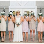 Bridesmaids in Mismatched Neutral Dresses | Brigantine Del Mar Wedding | Del Mar Wedding Photographer | Kristine Marie Photography | www.kristinemariephotography.com