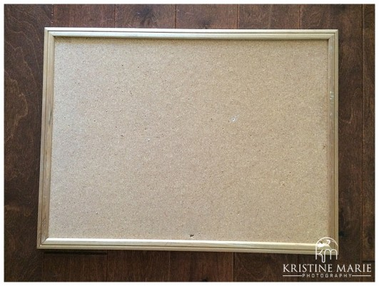 How to Make a Framed Corkboard | San Diego Wedding Photographer